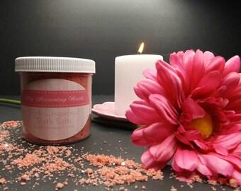 Pink Grapefruit Bath Salts, 6 oz., Bath Soak, Tea Tub