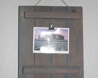 Hanging wood picture plaque, Wood picture holder