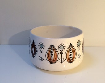 Vintage Egersund Norway Sugar Bowl 1950s 1960s Scandinavian Pottery Flint