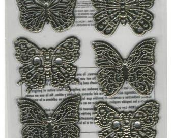 Martha Stewart Crafts   8 PC Elegant Filigree Butterflies Stickers