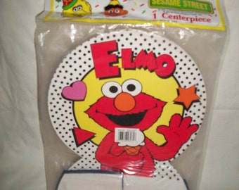 "Vintage 1990 Seseme Street Elmo Paper Centerpiece, 12.5"" x 9.5"","