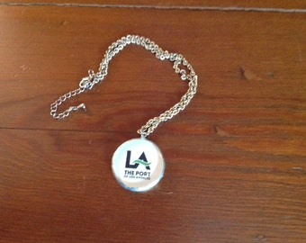 Pendant Necklace with Los Angeles Charm from Vintage Ephemera
