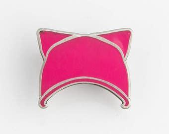 Pink Pussy Protest Hat enamel pin LGBT pin Lesbian pin Gay Pin Gay Gift Resistance  Pride Pin Feminist Pin Lesbian Girlfriend Lesbian Gift