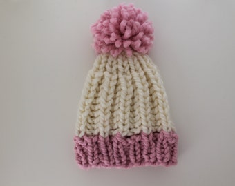 Baby (6-12 months) Chunky Knit Pom Toque
