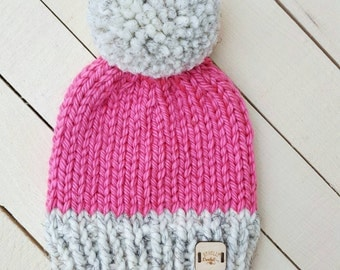 Ready to ship / baby girl hat / knit beanie / baby accessories / 6mo. to 1 yr
