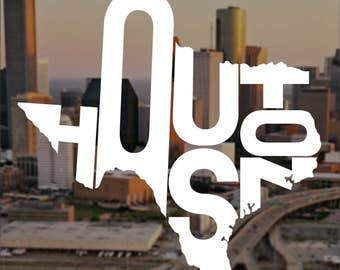 Houston Decal Etsy - Vinyl decals houston tx