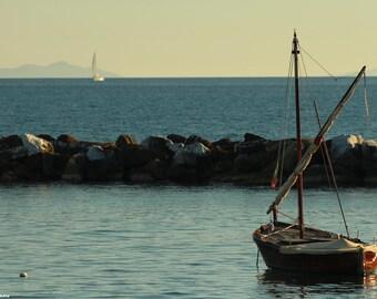 Autumn sea - photo art - photo sea - autumn photo - photography - boat photo - photo art - color photo - color sea