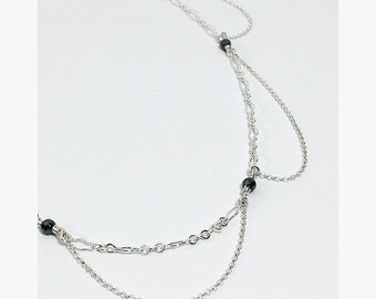 Edgy Gothic Sterling Chain Choker