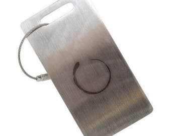 Enso Stainless Steel Luggage Tag