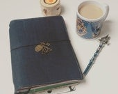Customizable HP inspired corkleather travelers notebook cover / fauxdori (different sizes)