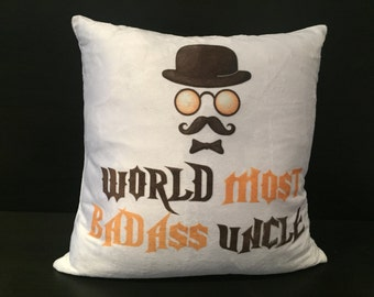 World's Most Badass Uncle Cushion