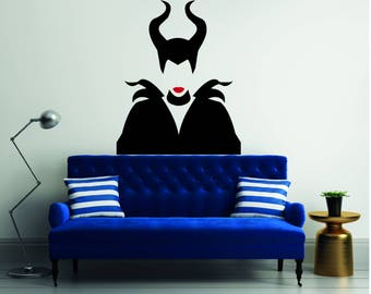 Malefica Silhouette - Mural Wall Decal For Home Bedroom Living Room (413)