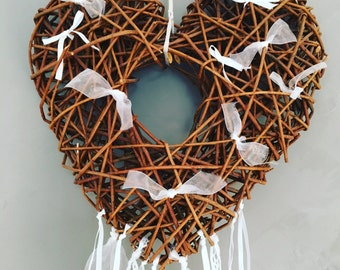 White heart Dreamcatcher