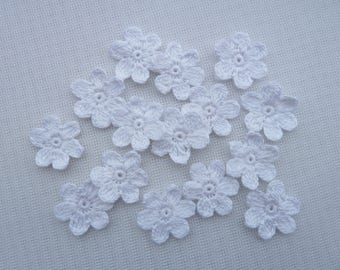 15pcs crochet flowers for scrapbooking,sewing and headband