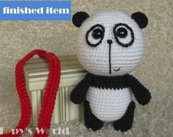 Steven Panda, handmade crochet item