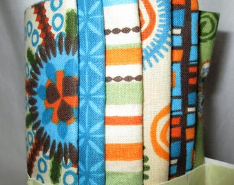 Creative Cuts Super Stax 8 Fat Quarters Bundle, 100% Quilting Cotton, Coordinating Prints, 2 Yards of Quilt Fabric, Bright Colors, Floral
