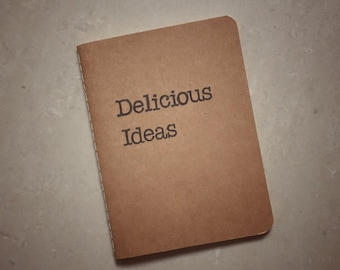 Delicious Ideas Notebook | A6-size Kraft Hand-stamped Notebook
