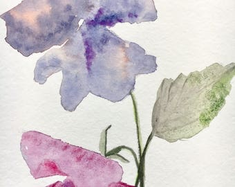 Abstract painting, floral watercolor, Original Watercolor,  Watercolor painting, Abstract flowers, Floral art, small painting, flowers art