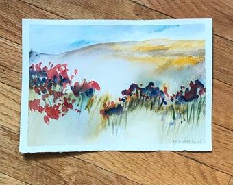 SALE Abstract Landscape, original art, watercolor painting, small painting, original watercolor, watercolor painting, abstract watercolor,