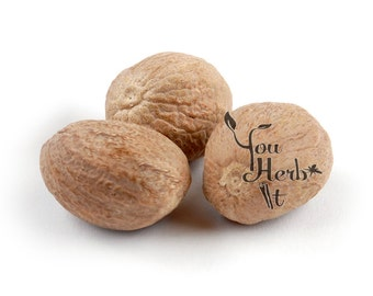 Whole Nutmegs Grade A Premium Quality 10-50 Nutmegs - approx. 45g per 10 nutmegs
