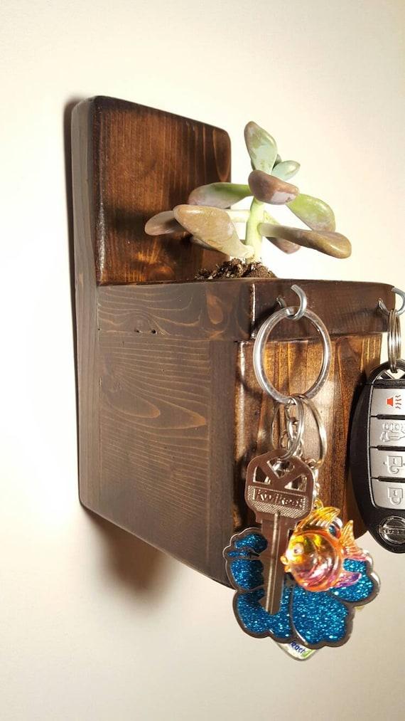 Key Holder/ Rustic Key Holder/ Wooden Key Holder/ Succulent Planter/ Wooden Planter/ Planter Box/ Cedar Planter Box/ Cedar Key Holder