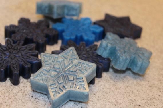 Snowflakes soap, goat milk  soap, unisex, choose your color, choose your scent, gift idea, handmad, handmad soap, melt and pour, winter soap