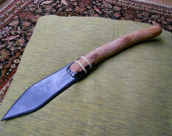 Slate and Pear-wood Athame or knife