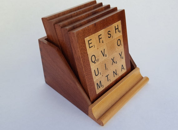Scrabble Coasters Set Of Five
