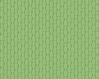 Green Geometric Fabric - Ardently Austen Fabric - Green Cotton Material