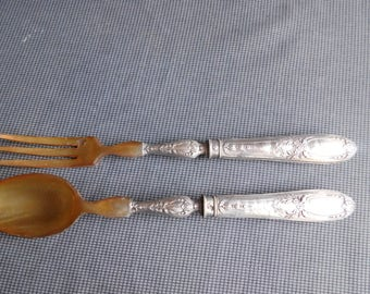 Cutlery service silver salad stuffed M.o. Brush & Cie pink décor and thrush