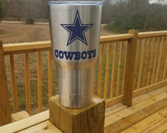 30oz stainless steel Dallas Cowboys Rtic Tumbler