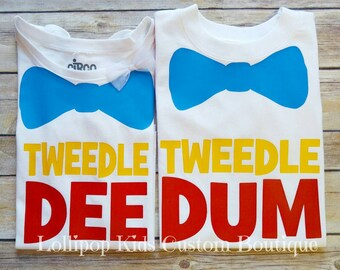 Tweedle Dee, Tweedle Dum white short sleeve Shirt