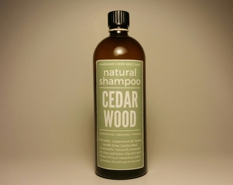 CEDARWOOD Natural Shampoo 200mL // Aromatherapy and Botanical // Skin and Body Care