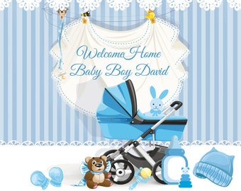Welcome home baby etsy for Welcome home baby shower decorations