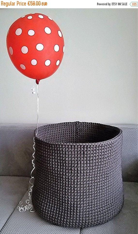 Perfect Laundry basket // Handmade crochet basket // Big crochet basket // Toys Bag // Basket crochet // Home storage//Polyester rope basket