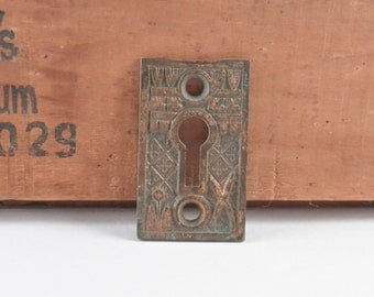Vintage Ornate Brass Keyhole