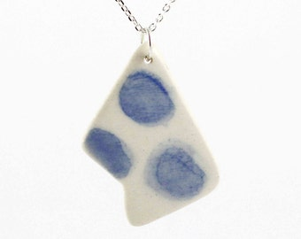 Water Droplet Necklace - Polygon Clay