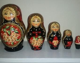 Matryoshka Russian 5 Nesting Dolls