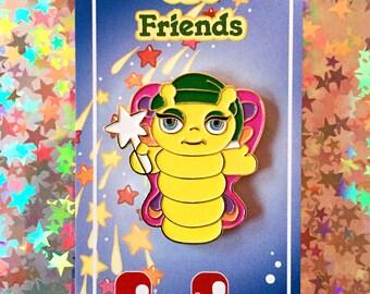 Glo Friends Enamel Pin - Glo Butterfly - Lapel Pin - Hat Pin