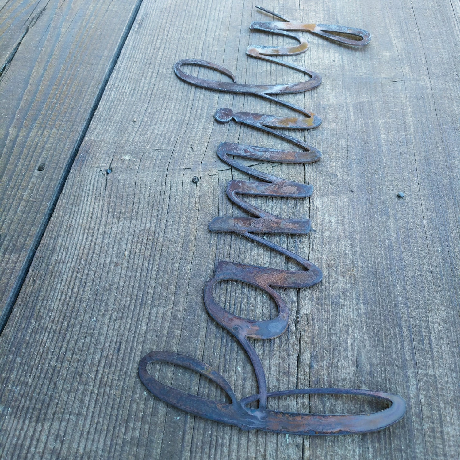 Metal family sign farmhouse wall decor metal words rustic wall 1 amipublicfo Gallery