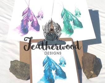Inked Feathers Art Print - Tribal Collection