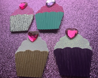 Cupcake Tags Or Stickers (Set Of 12) You Choose Your Colors