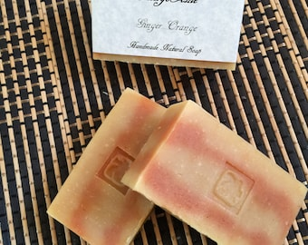 Clearance Sale! Discount (Due to design change)! Ginger & Orange Handmade Natural Soap