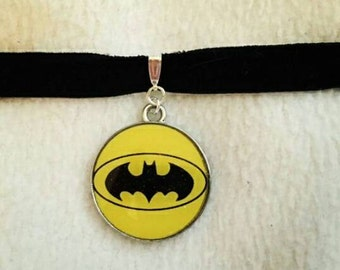 Batman DC on velvet choker