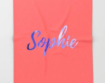 Personalized Fleece Blanket, Gifts For Girls Room Decor For Teen Girls, Birthday Gifts For Women, Custom Blanket, Mint Decor Bedroom