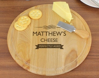 Personalised PERFECTLY AGED Cheese Board House Warming, Birthdays Gift
