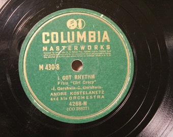 """1940 ~ 10"""" Shellac 78rpm Record~ Andre Kostelanetz and his Orchestra~Columbia Masterworks #4268-M~Hammerstein-Kern-Gershwin"""