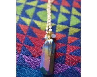 "Stone Pendant Necklace - 18"""