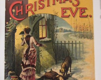 Nellie's Christmas Eve Soft Back Book by Miss Fanny Wight c1890