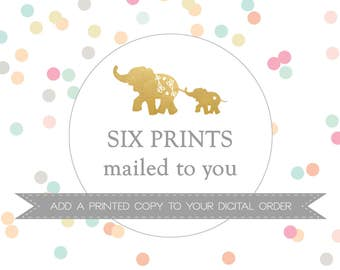 SIX PRINTS mailed to you // Add a PRINTED copy to your digital order // Peanut Prints Boutique Printing.